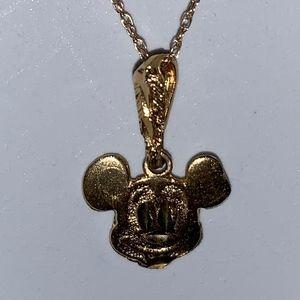 🏆 ⭐️ HPDainty Small 10k Gold Mickey  Necklace 14k